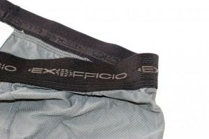The waistband is wide and comfortable. After washing the boxers dried in an hour and 45 minutes.