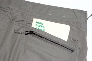The Equatorial short has two rear pockets on the right side, one with a zipper to secure your wallet or ID.