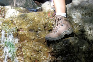 Ideal for traversing wet rocks along the creek