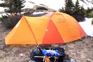 Marmot Thor 2P, four-season tent.
