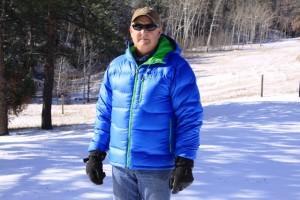 Marmot Ama Dablam jacket in cobalt blue.