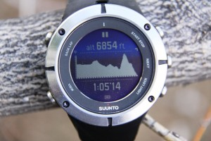 Suunto Ambit2 with graphic display of terrain covered.