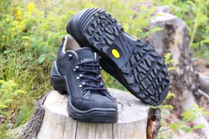 LOWA Renegade low top and leather lined hiking shoes.