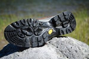 Vibram outsoles offer plenty of all terrain grip.