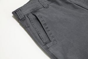 The right pant leg has a deep, double pocket